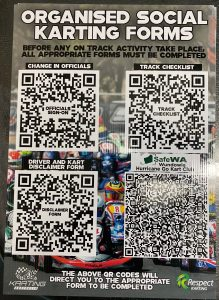 QR Codes for forms for karting